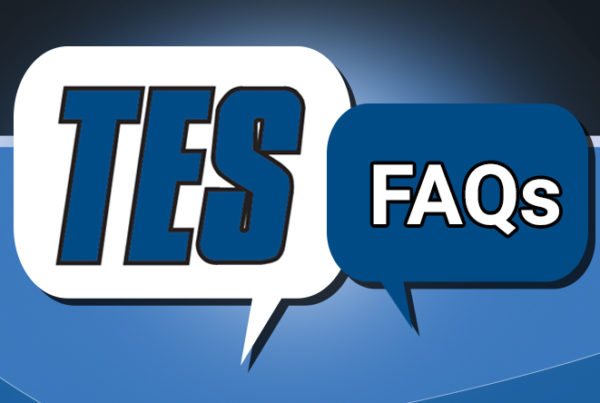 Banner with text TES FAQs